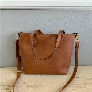 Steve Madden Brown Leather Mid Sized Satchel